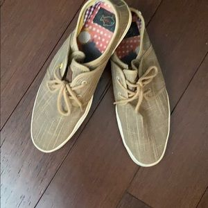 Fish and Chips men light brown shoes size 10
